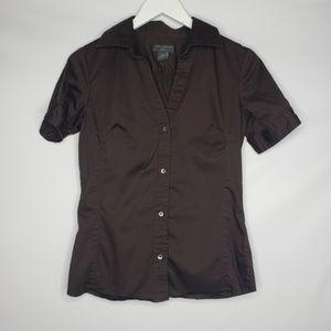 Banana Republic Brown Tailored Button Down Shirt